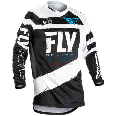 Джерси для мотокросса/эндуро FLY RACING F-16 (Черный/Белый)