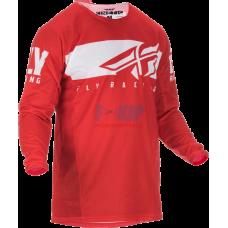 Джерси для мотокросса/эндуро FLY RACING KINETIC SHIELD (Красный/Белый)
