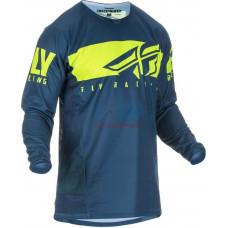 Джерси для мотокросса/эндуро FLY RACING KINETIC SHIELD (Синий/Желтый)