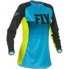 Джерси для мотокросса/эндуро женская FLY RACING WOMEN'S LITE (Голубой/Желтый)