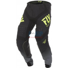 Брюки для мотокросса FLY RACING KINETIC LITE K220 PANTS черные/Hi-Vis желтые