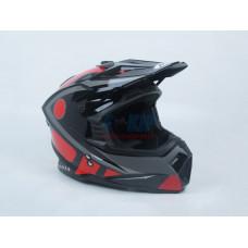 Мотошлем (кроссовый) Ataki MX801 Strike Красный-Черный (Глянцевый)