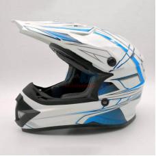 Мотошлем (кроссовый) Ataki SC-15 Rift детский синий-белый