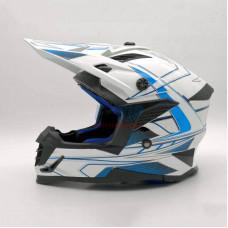 Мотошлем (кроссовый) Ataki SC-16 Rift синий-белый
