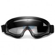 Очки для мотокросса (Черные матовые, Стекло прозрачное)