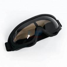 Очки для мотокросса (Черные матовые, Стекло тонированное)