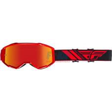 Очки для мотокросса FLY RACING ZONE красные, зеркальные
